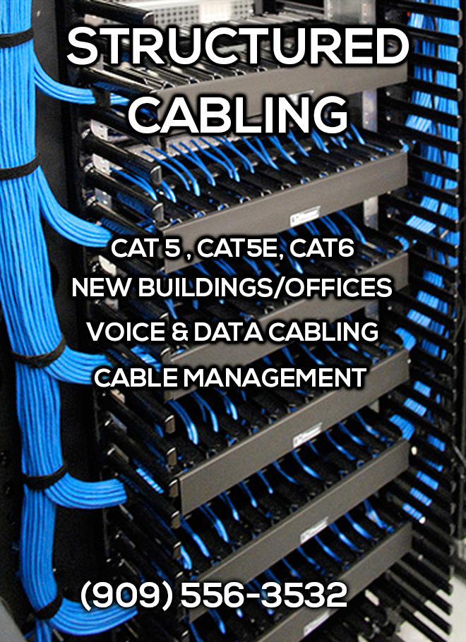 Structured Cabling CAT5 CAT5e CAT6 Installation Services