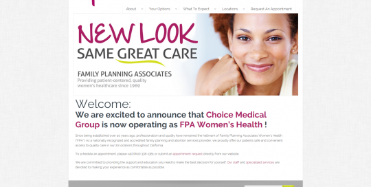 Choice Medical Group - Web Design