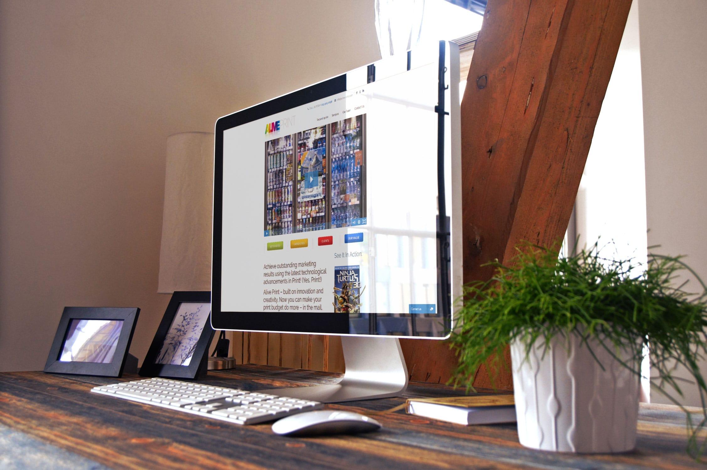 Alive Print Website Design