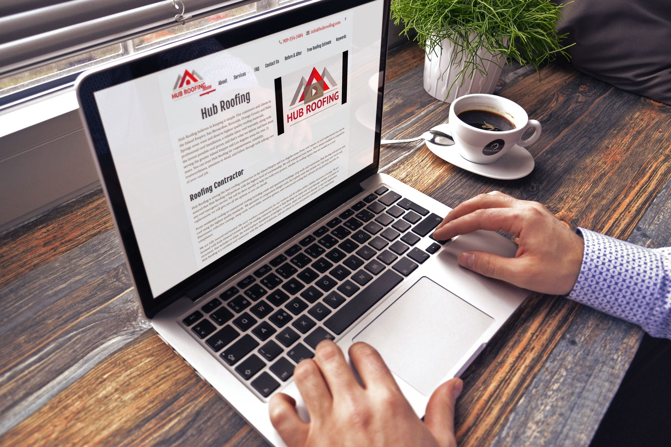 Hub Roofing Website