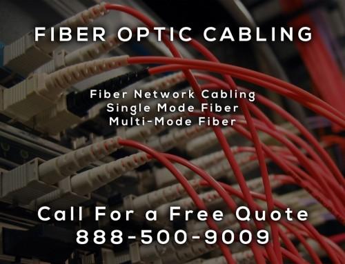 Fiber Optic Cabling in McFarland CA