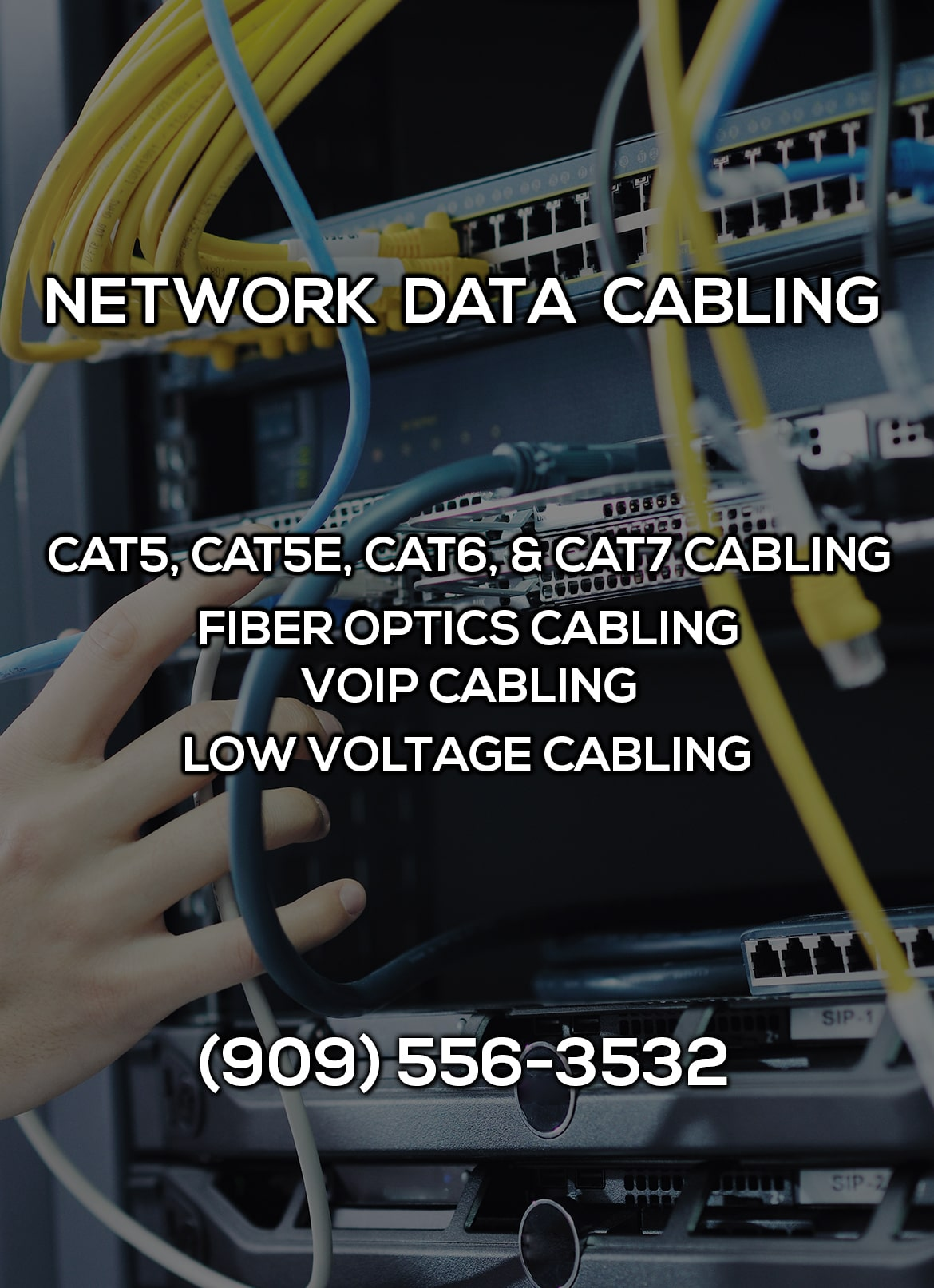 Network Data Cabling in Highland CA