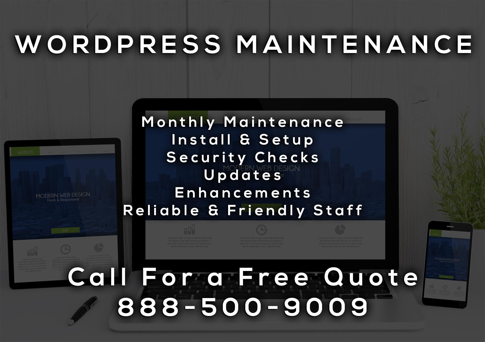 WordPress Maintenance Services Santa Fe Springs CA